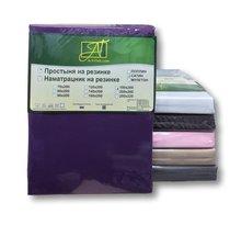 ПР-СО-Р-090-ФУК Фуксия простыня Сатин однотонный на резинке 90х200х25, цвет фуксия - АльВиТек