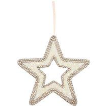 Подвесказвезда с Жемчугом Цвет: Rose Gold Диаметр 22 см - Polite Crafts&Gifts