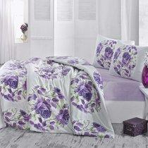 Постельное белье Ranforce Adrina, цвет сиреневый, 1.5-спальный - Altinbasak Tekstil