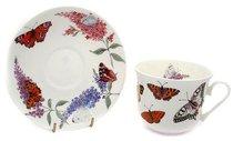 Чайная пара для завтрака Бабочки 500мл - Roy Kirkham