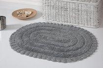 "Коврик для ванной ""MODALIN"" кружевной YANA 50x70 см 1/1, цвет серый, 50x70 - Bilge Tekstil"