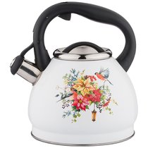 Чайник Со Свистком Agness Торжество, Индукцион.Дно, 3,0Л, цвет белый - L&K