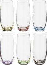 Набор стаканов ДЛЯ ВОДЫ из 6 шт. RAINBOW 350 мл ВЫСОТА 15 см (КОР 8Набор.) - Crystalex