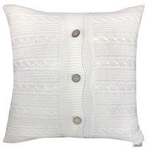 "Вязаный чехол для подушки ""Milk"", 43х43 см, 02-V001/1, цвет молочный, 43x43 - Altali"