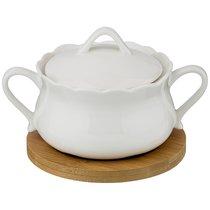 Сахарница 16x14x8 см на Подставке - Сhaoan jiabao porcelain
