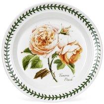 """Тарелка пирожковая Portmeirion """"Ботанический сад.Розы. Тамора персиковая роза"""" 18см - Portmeirion"""