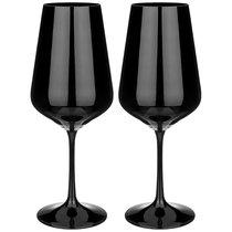 Набор Бокалов Из 2 Штук Total Black 450 Мл Высота 24 См - Crystalex