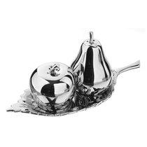 """Набор из солонки и перечницы """"Яблоко и груша"""" п/к (никелированная сталь) - Arthur Price"""