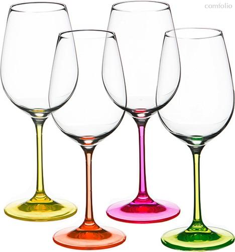 Набор бокалов для вина из 4 шт. NEON 350 мл ВЫСОТА=22 СМ. - Crystalex