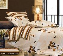 Постельное белье СайлиД сатин B-87, цвет бежевый/светло-коричневый, 2-спальный - Сайлид