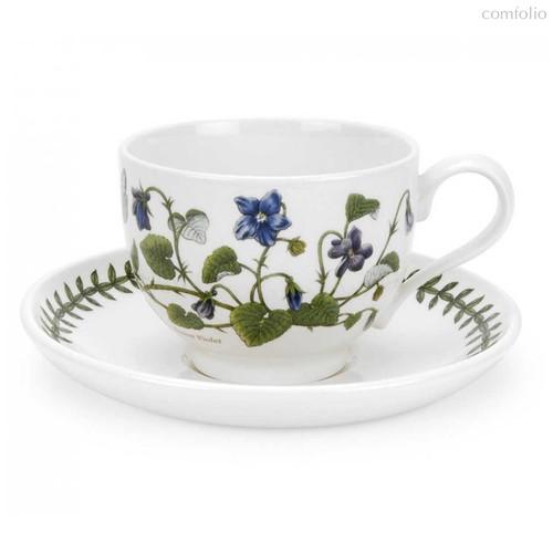 """Чашка чайная с блюдцем Portmeirion """"Ботанический сад. Фиалка"""" 200мл - Portmeirion"""