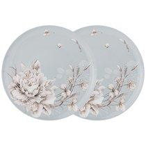 Набор Из 2 Тарелок Обеденных Lefard White Flower 25,5 см Голубой - Jinding
