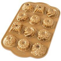 """Форма для выпечки на 12 кексов 3D Nordic Ware """"Очарование"""", литой алюминий - Nordic Ware"""