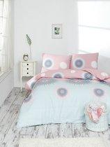 """Постельное белье """"RANFORCE"""" 1,5 сп 50х70*1шт ORLEON, цвет розовый, 1.5-спальный - Altinbasak"""