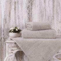 Полотенце Karna Mora, микрокотон, цвет кофейный, размер 50x90 - Karna (Bilge Tekstil)