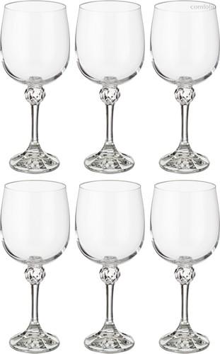 Набор бокалов для вина из 6 шт. ДЖУЛИЯ 340 МЛ ВЫСОТА=19,5 СМ (КОР=8Набор.) - Crystalex