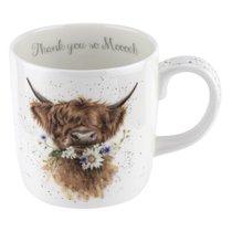 """Кружка Royal Worcester """"Забавная фауна.Спасибо от бычка"""" 400мл - Royal Worcester"""