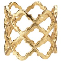 """Кольцо для салфетки 5см """"Решетка"""" (золото) - Harman"""