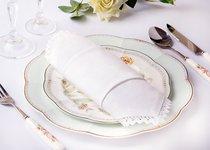 Набор Салфеток 40X40 см 6 шт. Цвет: Белый 100% Хлопок - Aauraa International