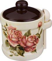 Сахарница Корейская Роза 13 11 12 См. 300 Мл. С Ложкой - Huachen Ceramics