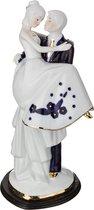 Статуэтка Влюбленная Пара 18x13 см Высота 30 см Серия Blau Weiss - Jinding