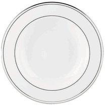 """Тарелка суповая 23см """"Федеральный, платиновый кант"""", цвет белый/серебряный, 23 см - Lenox"""