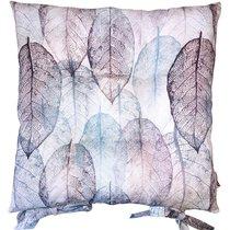 "Подушка на стул ""Зимние листья"", P705-2019/11, 41х41 см, цвет голубой, 41x41 см - Altali"