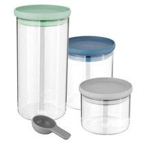 3пр Набор стеклянных контейнеров для хранения Leo - BergHOFF