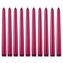 Набор Свечей из 10 шт. Металлик Красный Высота 24 см - Adpal