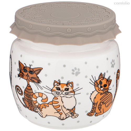 Банка С Силиконовой Крышкой Озорные Коты 750 мл - Shunxiang Porcelain