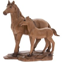 Лошадь с жеребенком 24x22 см - Lesser & Pavey