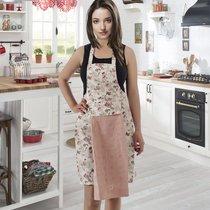 Фартук кухонный Karna с салфеткой 30x50, цвет пудра - Karna (Bilge Tekstil)