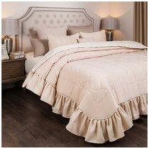 Комплект На Кровать Из Покрывала И 2-Х Нав Барокко 250Х230,50Х70-2Шт,Крем, 100% Пэ, цвет персиковый, 230x250 - Santalino