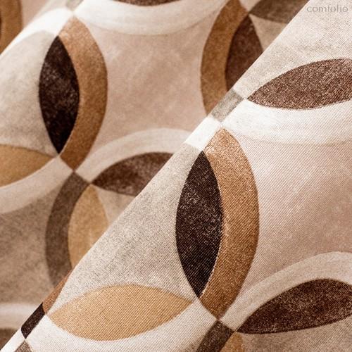 Ткань лонета Ритм кари ширина 280 см/ 1790, цвет коричневый - Altali