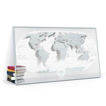 Cкретч-карта мира Travel Map Air World в металлической раме - 1DEA.me