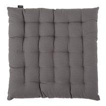 Подушка на стул из хлопка серого цвета из коллекции Prairie, 40х40 см - Tkano