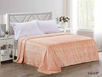 """Плед Cleo """"ПАРМА квадрат"""" велсофт двуспальный 180*200 180/165-OP, цвет персиковый, 180 x 200 - Cleo"""