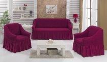 """Набор чехлов для дивана """"BULSAN"""" 3+1+1, цвет фуксия - Bulsan"""