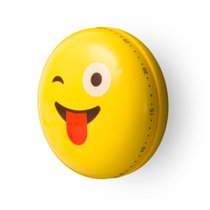 Таймер механический Emoji Tongue, цвет желтый - Balvi