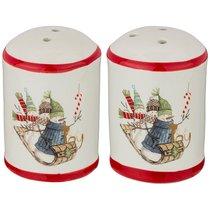 Набор Для Специй Зимняя Забава 2Пр. 4,5x4,5x7 см - Huachen Ceramics