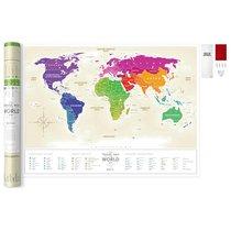 Карта Travel Map Gold World RU - 1DEA.me