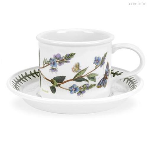 """Чашка чайная с блюдцем Portmeirion """"Ботанический сад. Вероника"""" 200мл - Portmeirion"""