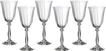 Набор бокалов для вина из 6 шт. АНЖЕЛА ОПТИК 250 мл ВЫСОТА 21 см - Crystalex