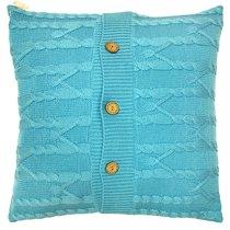"Вязанный чехол для подушки ""Голубой океан"", 45х45 см 02-V646/1, цвет голубой, 45x45 - Altali"