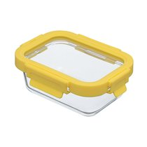 Контейнер для еды стеклянный 370 мл желтый - Smart Solutions