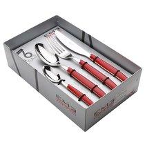 Набор столовых приборов 16пр Кромо Красный, подар.упаковка - EME Posaterie