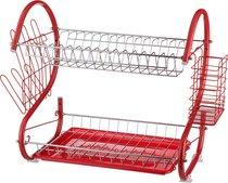 Подставка Под Посуду Agness+Пластиковый Поддон 40x24,5x38 см, цвет красный - Yiwu Framer