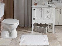 """Коврик гостиничный """"GREN"""" 700gsm 20/2 50X70 см 1/6 Белый, 50x70 - Bilge Tekstil"""