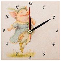 Часы Свинки: Счастье Высота 10 см - ГлассМун