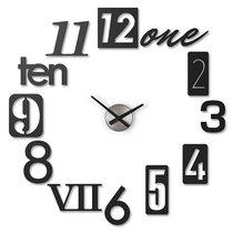 Часы настенные Numbra черные - Umbra